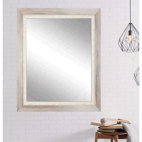 "Brandt Works Weathered Beach Wall Mirror BM023L2 32""x50""-Wall Mirror-Floor Mirror Gallery"