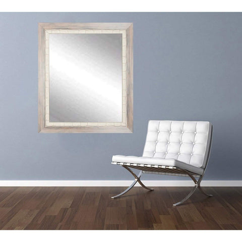 "Brandt Works Weathered Beach Wall Mirror BM023L 32""x38""-Wall Mirror-Floor Mirror Gallery"
