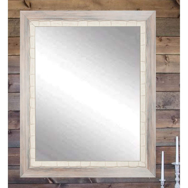 "Brandt Works Weathered Beach Wall Mirror BM023M2 32""x36""-Wall Mirror-Floor Mirror Gallery"