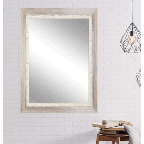 "Brandt Works Weathered Beach Wall Mirror BM023M3 32""x41""-Wall Mirror-Floor Mirror Gallery"