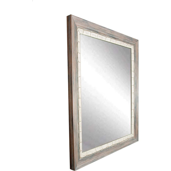 "Brandt Works Weathered Beach Wall Mirror BM023M 27""x32""-Wall Mirror-Floor Mirror Gallery"