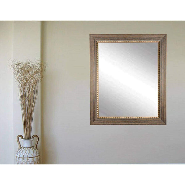 "Brandt Works Bronze Wood Trail Wall Mirror BM024M 27""x32"" - Floor Mirror Gallery"