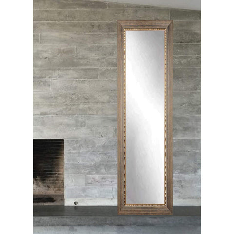 "Brandt Works Bronze Wood Trail Floor Mirror BM24SKINNY 16.5""x71.5""-Floor Mirror-Floor Mirror Gallery"
