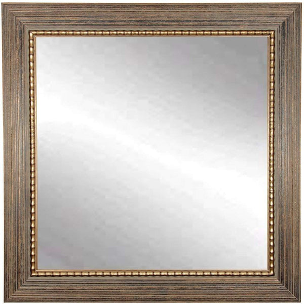 "Brandt Works Bronze Wood Trail Square Wall Mirror BM024SQ 32""x32"" - Floor Mirror Gallery"