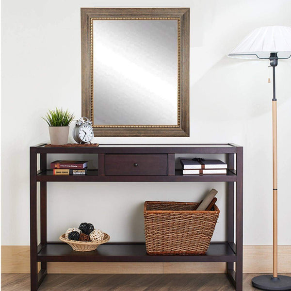 "Brandt Works Bronze Wood Trail Wall Mirror BM024S 22""x32"" - Floor Mirror Gallery"