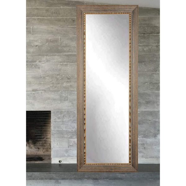 "Brandt Works Bronze Wood Trail Floor Mirror BM24THIN 22""x71.5""-Floor Mirror-Floor Mirror Gallery"