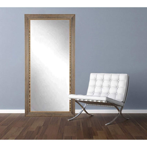 "Brandt Works Bronze Wood Trail Floor Mirror BM024T 32""x71""-Floor Mirror-Floor Mirror Gallery"