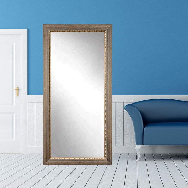 "Brandt Works Bronze Wood Trail Floor Mirror BM024TS 32""x66""-Floor Mirror-Floor Mirror Gallery"