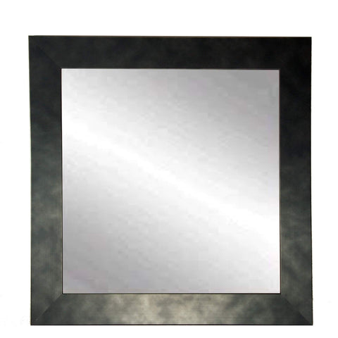 "Brandt Works Clouded Gunmetal Square Wall Mirror BM025SQ 32""x32""-Wall Mirror-Floor Mirror Gallery"