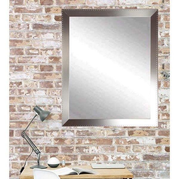 "Brandt Works Embossed Steel Wall Mirror BM026L2 30.5""x48.5""-Wall Mirror-Floor Mirror Gallery"