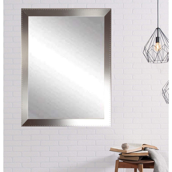 "Brandt Works Embossed Steel Wall Mirror BM026L3 30.5""x53.5""-Wall Mirror-Floor Mirror Gallery"