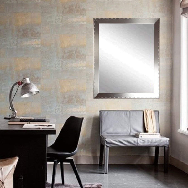 "Brandt Works Embossed Steel Wall Mirror BM026M3 30.5""x39.5""-Wall Mirror-Floor Mirror Gallery"