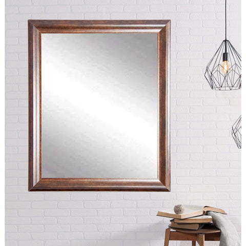 "Brandt Works Vintage Copper Hill Wall Mirror BM031L 31.5""x37.5""-Wall Mirror-Floor Mirror Gallery"