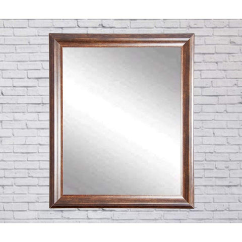 "Brandt Works Vintage Copper Hill Wall Mirror BM031M2 31.5""x35.5""-Wall Mirror-Floor Mirror Gallery"