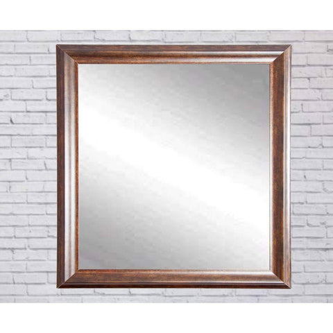"Brandt Works Vintage Copper Hill Square Wall Mirror BM031SQ 31.5""x31.5""-Wall Mirror-Floor Mirror Gallery"
