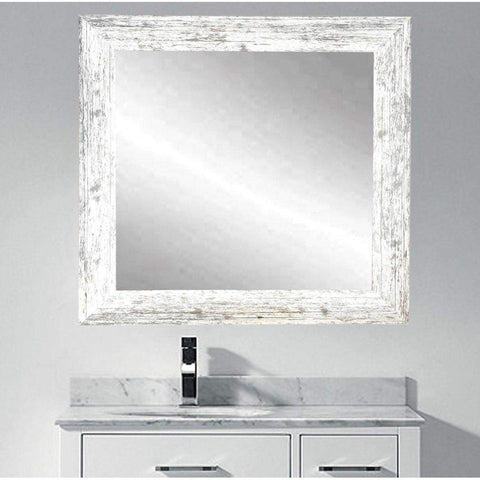 "Brandt Works American Barnwood Square Wall Mirror BM032SQ 32""x32""-Wall Mirror-Floor Mirror Gallery"