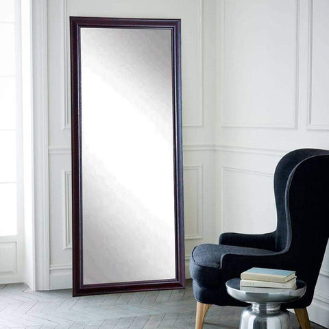 "Brandt Works Burgundy Fair Floor Mirror BM033TS 31.5""x65.5""-Floor Mirror-Floor Mirror Gallery"