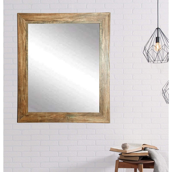 "Brandt Works Blonde Barnwood Wall Mirror  BM034L 32""x38"" - Floor Mirror Gallery"
