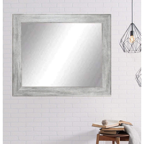 "Brandt Works Weathered Barnwood Wall Mirror BM035L2 33""x51""-Wall Mirror-Floor Mirror Gallery"