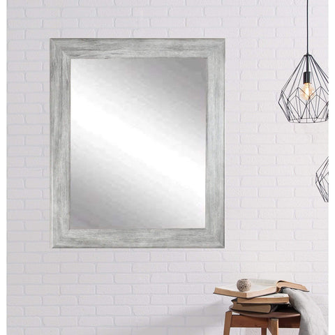 "Brandt Works Weathered Barnwood Wall Mirror BM035L 33""x39""-Wall Mirror-Floor Mirror Gallery"