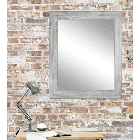 "Brandt Works Weathered Barnwood Wall Mirror BM035M2 33""x37""-Wall Mirror-Floor Mirror Gallery"