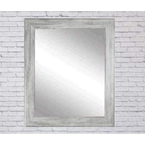 "Brandt Works Weathered Barnwood Wall Mirror BM035M3 33""x42""-Wall Mirror-Floor Mirror Gallery"