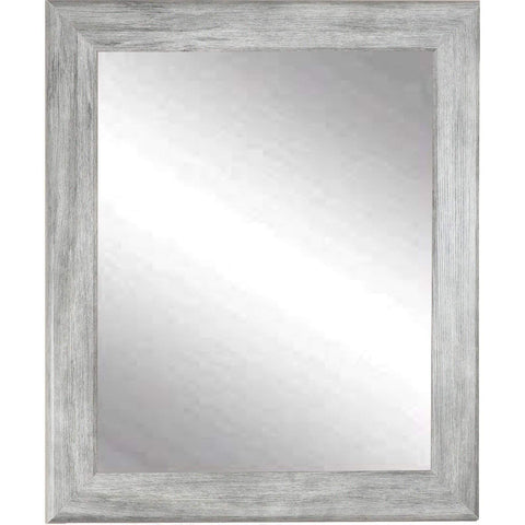 "Brandt Works Weathered Barnwood Wall Mirror BM035M 28""x33""-Wall Mirror-Floor Mirror Gallery"