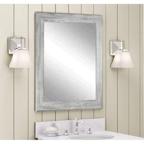 "Brandt Works Weathered Barnwood Wall Mirror BM035S 23""x33""-Wall Mirror-Floor Mirror Gallery"