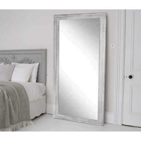 "Brandt Works Weathered Barnwood Floor Mirror BM035TS 33""x67""-Floor Mirror-Floor Mirror Gallery"