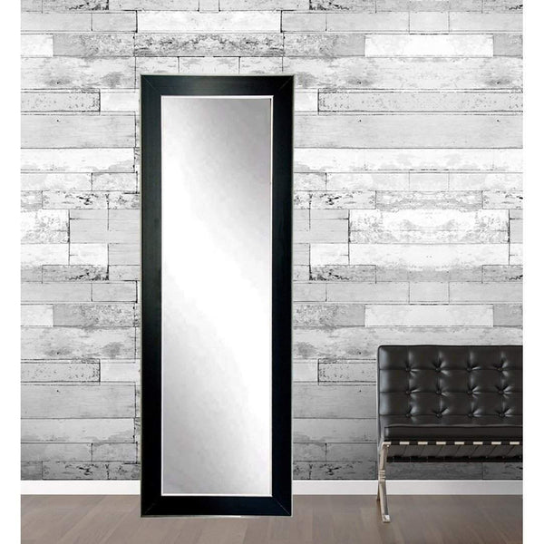 "Brandt Works Silver Accent Black Floor Mirror BM11THIN 21.5""x71""-Floor Mirror-Floor Mirror Gallery"