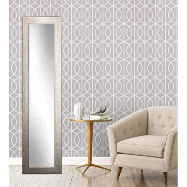 "Brandt Works Subway Silver Floor Mirror BM14SKINNY 16""x71""-Floor Mirror-Floor Mirror Gallery"
