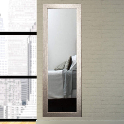 "Brandt Works Subway Silver Floor Mirror BM14THIN 21.5""x71""-Floor Mirror-Floor Mirror Gallery"