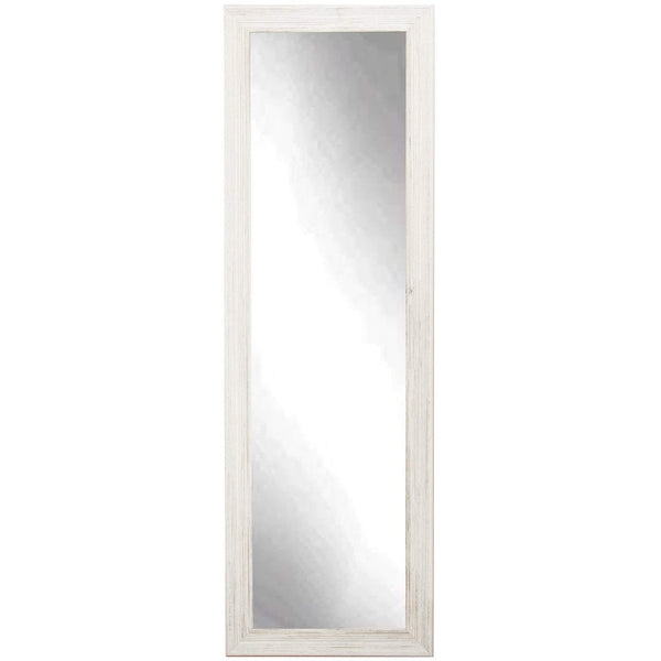 "Brandt Works Coastal Whitewood Floor Mirror BM18THIN 21""x70.5""-Floor Mirror-Floor Mirror Gallery"