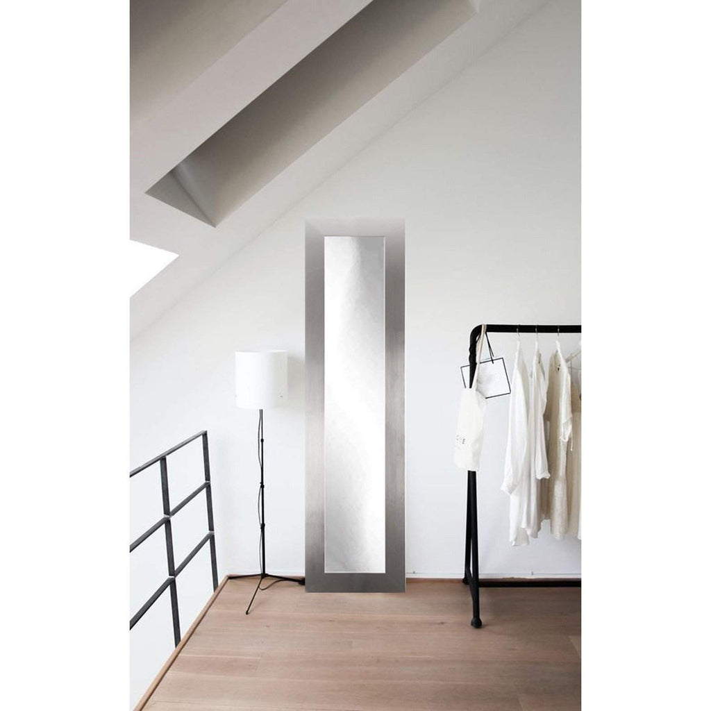 Wall mirrors floor mirror gallery brandt works modern silver floor mirror bm1skinny 16x71 floor mirror gallery amipublicfo Gallery