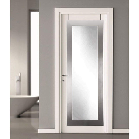Brandt Works Modern Silver Over the Door Full Length Mirror-Door Mirror-Floor Mirror Gallery
