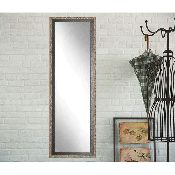 "Brandt Works Noble Black and Pewter Floor Mirror BM20THIN 20.5""x70""-Floor Mirror-Floor Mirror Gallery"