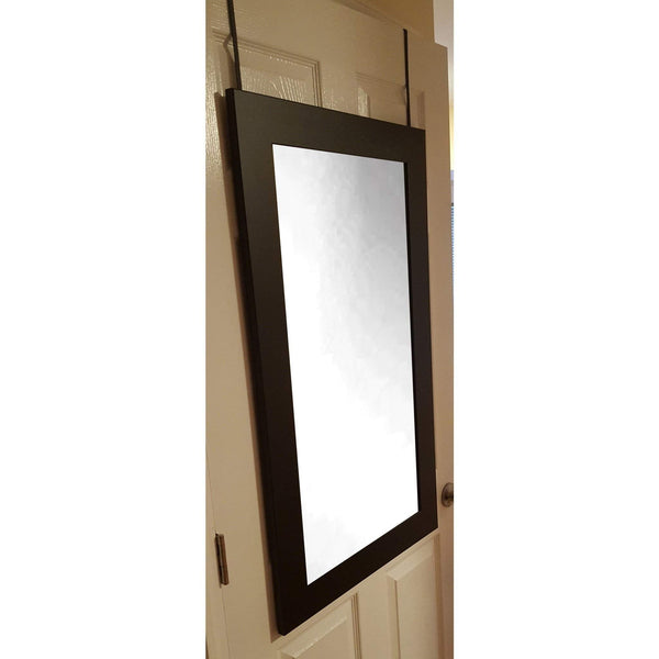 "Brandt Works Black Over the Door Silhouette Mirror BM2THINSH 22""x38"" - Floor Mirror Gallery"
