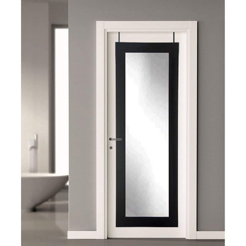 Brandt Works Matte Black Over the Door Full Length Mirror-Door Mirror-Floor Mirror Gallery