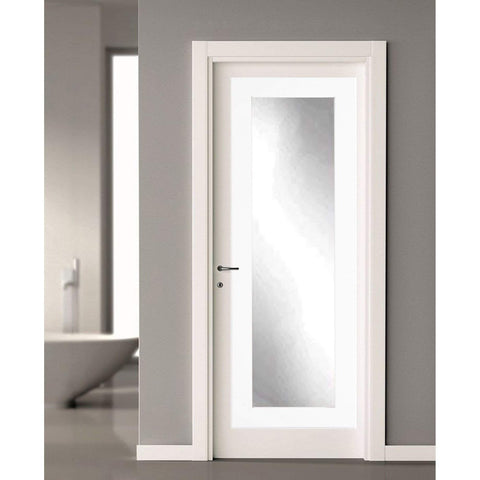 Brandt Works Matte White Over the Door Full Length Mirror-Door Mirror-Floor Mirror Gallery