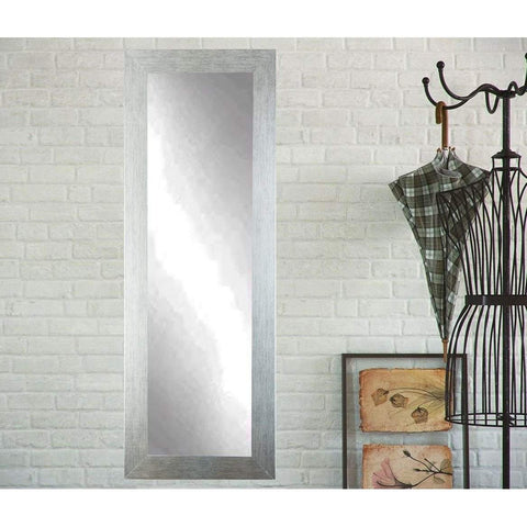 "Brandt Works Stainless Grain Floor Mirror BM4THIN 21.5""x71""-Floor Mirror-Floor Mirror Gallery"