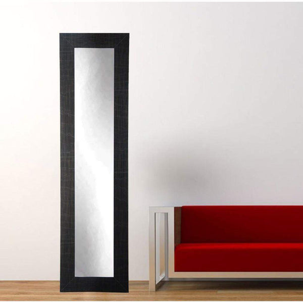 "Brandt Works Scratched Black Floor Mirror BM5SKINNY 16""x71""-Floor Mirror-Floor Mirror Gallery"
