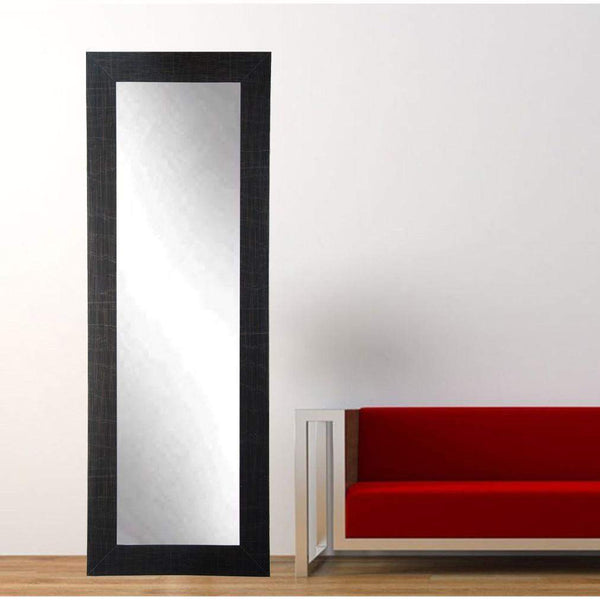 "Brandt Works Scratched Black Floor Mirror BM5THIN 21.5""x71""-Floor Mirror-Floor Mirror Gallery"