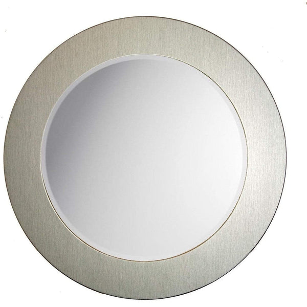 "Brandt Works Brushed Aluminum Round Mirror BAROUND1 26""x26"" - Floor Mirror Gallery"