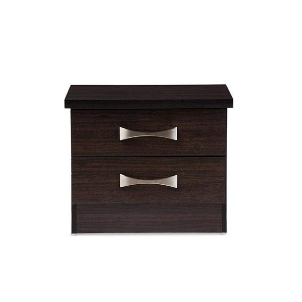 Baxton Studio Colburn Modern and Contemporary 2-Drawer Dark Brown Finish Wood Storage Nightstand Bedside Table - BR888004-Wenge-Nightstands-Floor Mirror Gallery