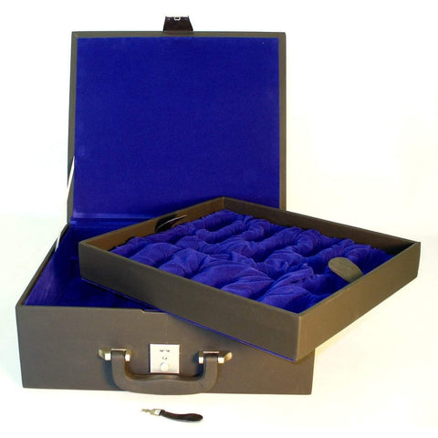 Large Blk Vinyl Chess Box, Chopra, India, BVBX6, by WorldWise Imports-Chess Bags & Boxes-Floor Mirror Gallery