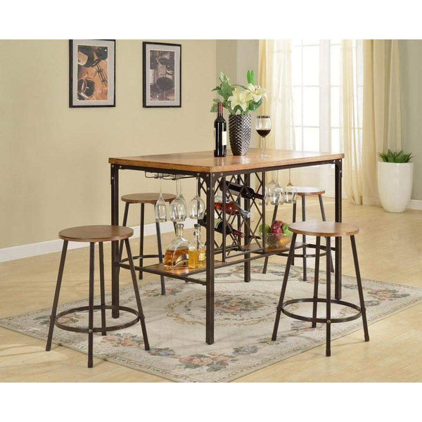 Baxton Studio Vintner Pub Set - CDC252 5PC Pub Set-Pub Sets-Floor Mirror Gallery