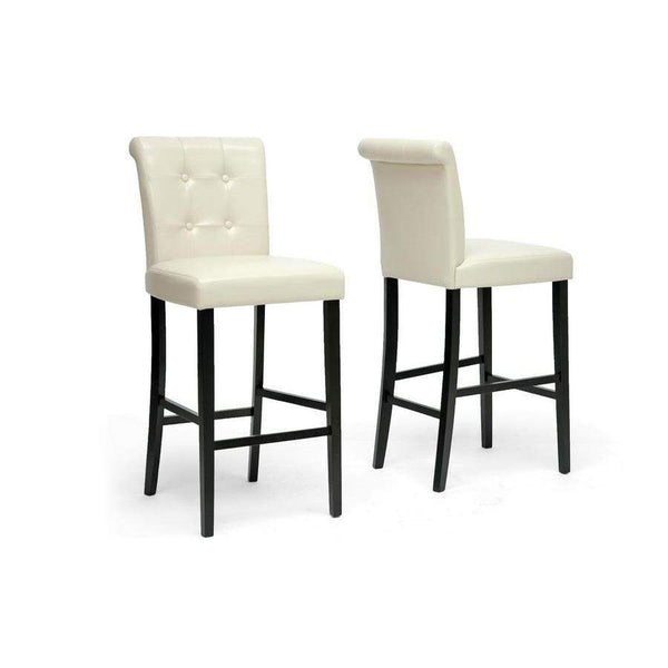 Baxton Studio Torrington Cream Modern Bar Stool - CH2-Cream-PSTL-Bar Stools-Floor Mirror Gallery