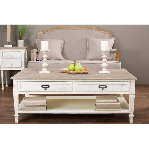 Baxton Studio Dauphine Traditional French Accent Coffee Table - CHR15VM/M B-C-Coffee, Accent Tables-Floor Mirror Gallery
