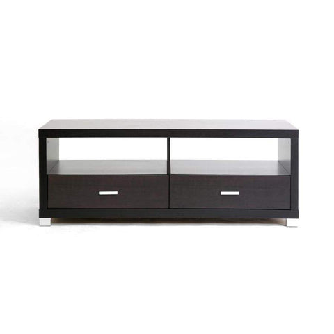 Baxton Studio Derwent Coffee Table with Drawers - CT-2DW-Coffee, Accent Tables-Floor Mirror Gallery
