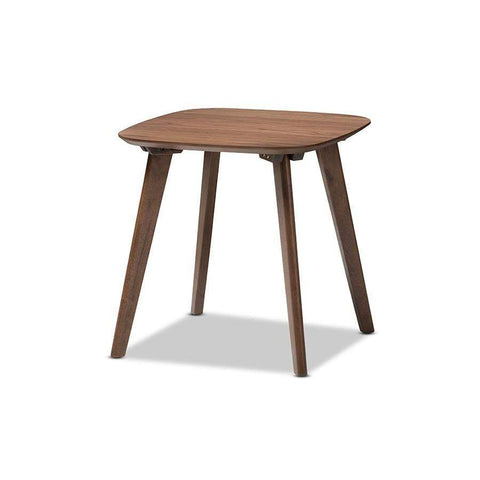 Baxton Studio Dahlia Mid-Century Modern Walnut Wood End Table - Dahlia-Walnut-ET-Coffee, Accent Tables-Floor Mirror Gallery
